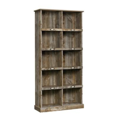 Granite Trace 71 in. Rustic Cedar Engineered Wood 5-Shelf Tall Cubby Bookcase