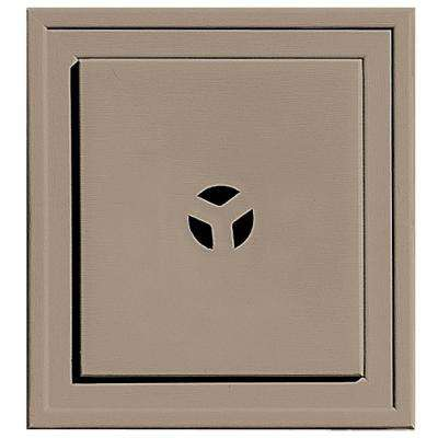 7.375 in. x 7.375 in. #095 Clay Slim Line Mounting Block