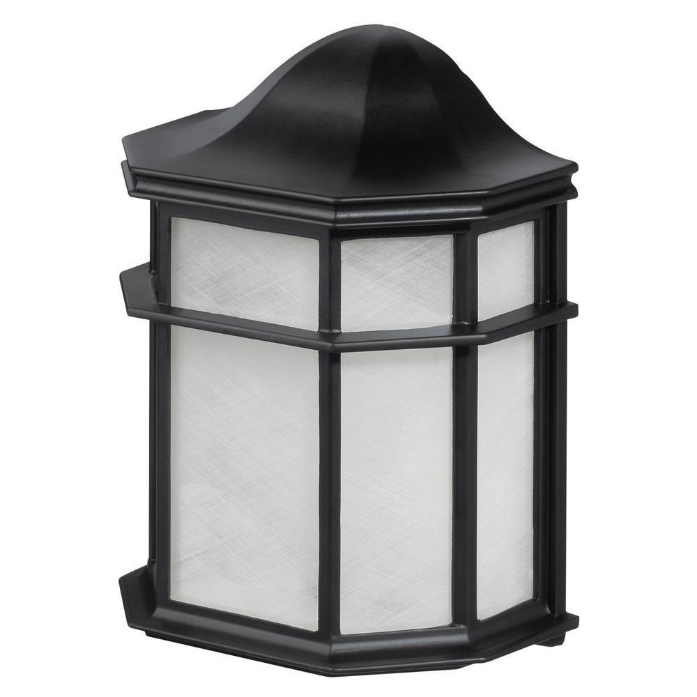 Globe Electric Melrose 1 Light Glossy Black Outdoor Weather Resistant Wall Sconce