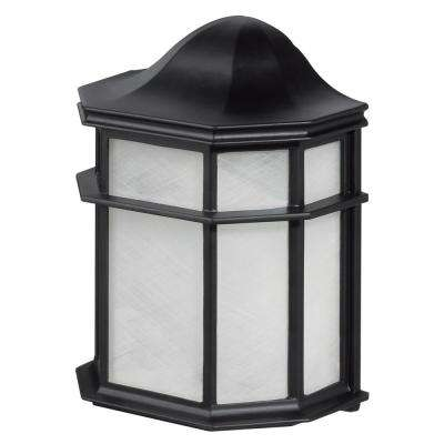 Melrose 1-Light Glossy Black Outdoor Weather Resistant Wall Sconce