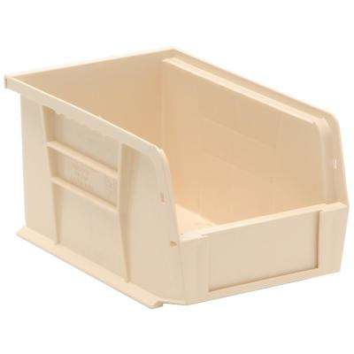 Ultra Series Stack and Hang 2.4 Gal. Storage Bin in Ivory (12-Pack)