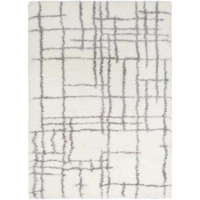 Josefina Cream 6 ft. 7 in. x 9 ft. 6 in. Abstract Area Rug