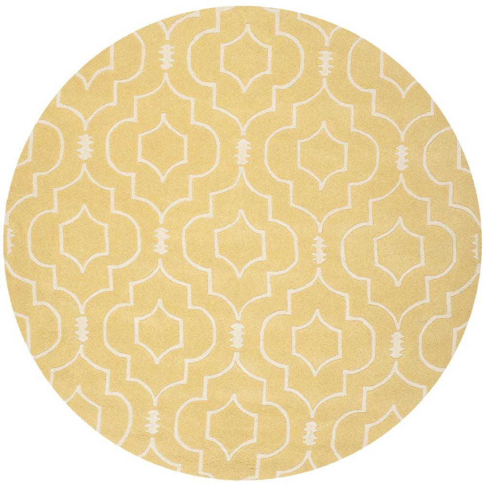 Chatham Light Gold/Ivory 7 ft. x 7 ft. Round Area Rug