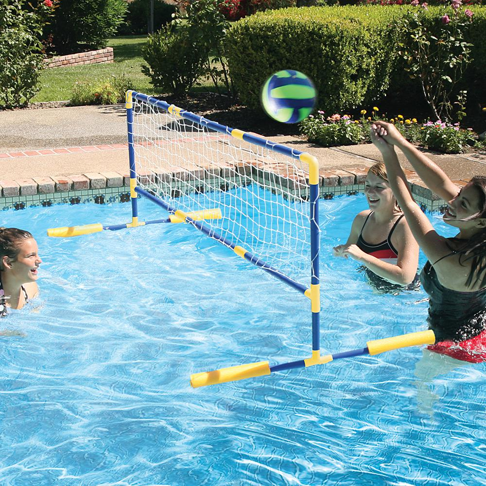 Poolmaster floating water volleyball pool game 72706 the for Pool design for volleyball