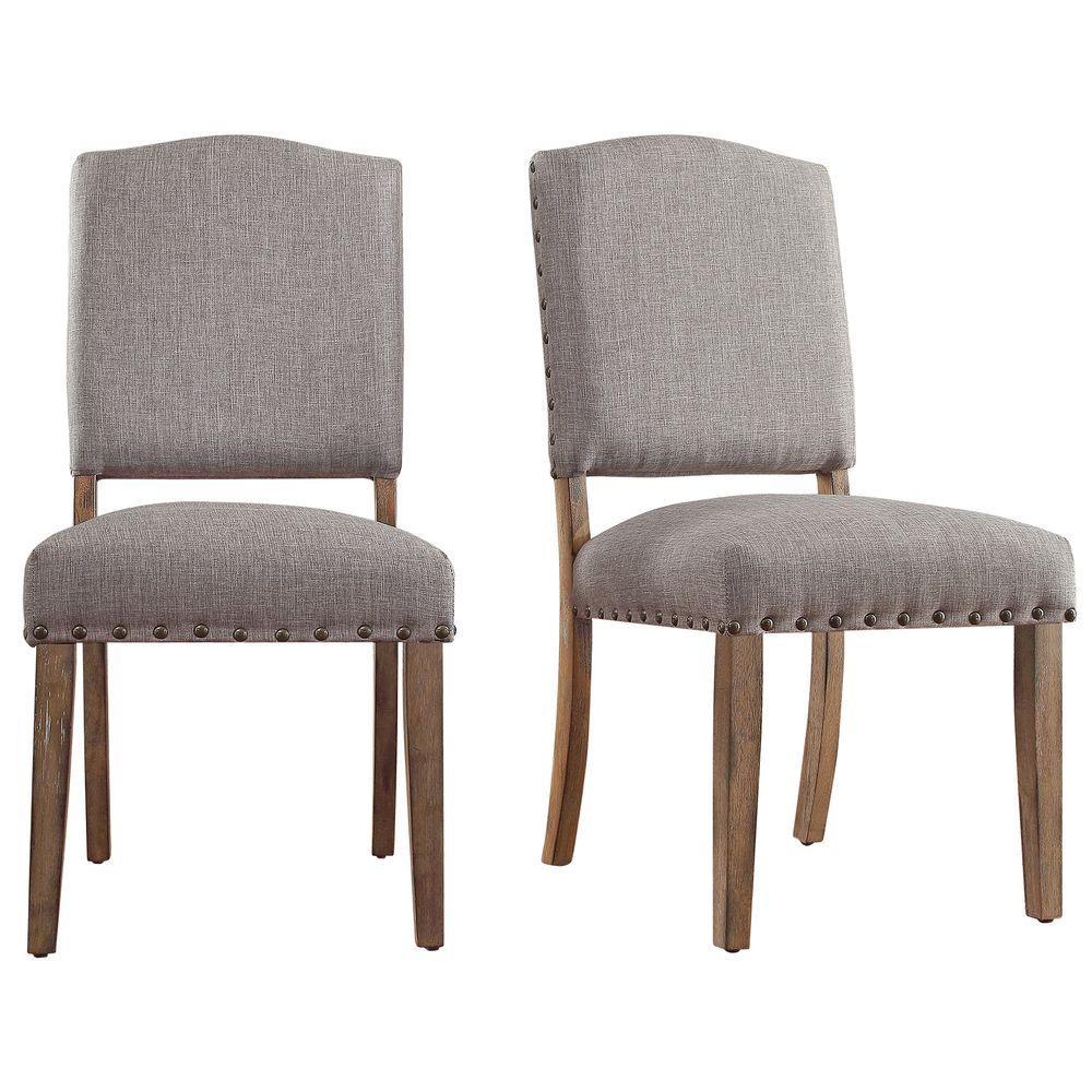 Bunker Hill Smoke Linen Dining Chair (Set of 2)