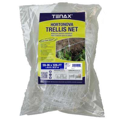 59 in. x 328 ft. White Hortonova Plant Trellis Net