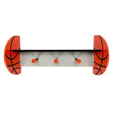 Basketball 24 in. W x 6.5 in. D Decorative Wall Shelf