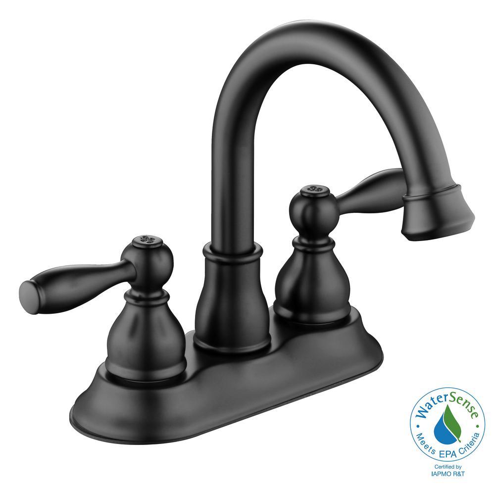 High Glaze Black Ceramic 4 Piece pc Bathroom Sink Bath Accessory Set