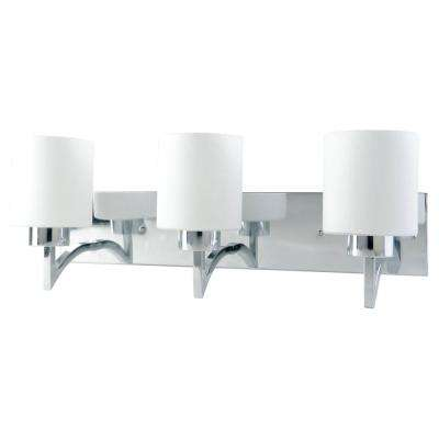 Markam 3-Light Chrome Wall Fixture Sconce