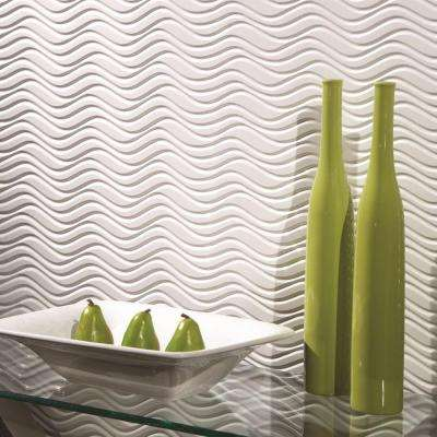Current Horizontal 96 in. x 48 in. Decorative Wall Panel in Smoked Pewter