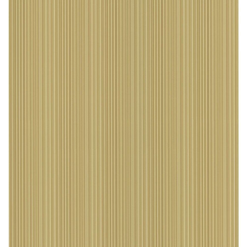Cottage Living Brown Stria Stripe Wallpaper Sample