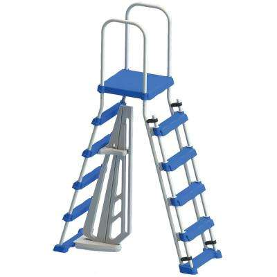 A-Frame Ladder with Safety Barrier