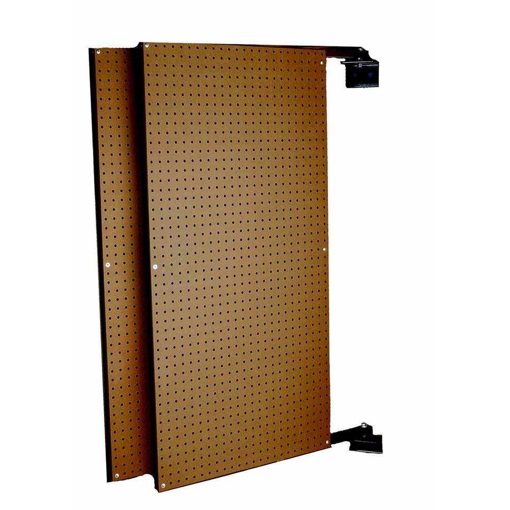 Triton Products XtraWall (2) 24 in. W x 48 in. H x 1-1/2 in. D Wall Mount Double-Sided Swing Panel Pegboard