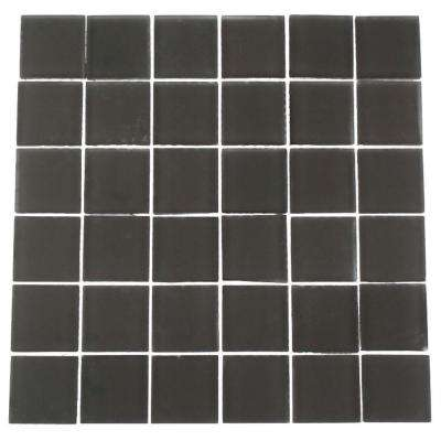 Contempo Smoke Gray 12 in. x 12 in. x 8 mm Frosted Glass Floor and Wall Tile