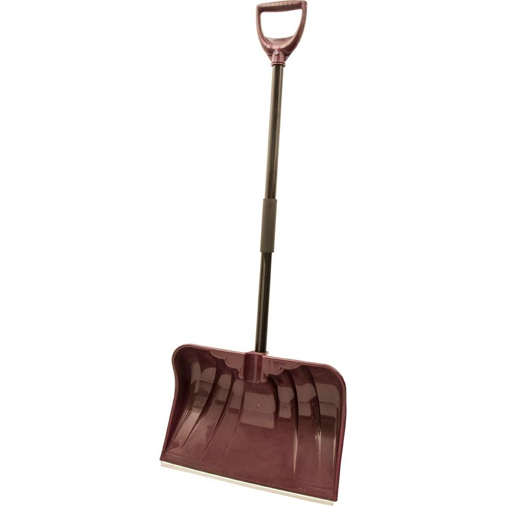 Rugg Manufacturing 20 in. Steel Handle and Poly Combo Blade with Wearstrip Snow Shovel