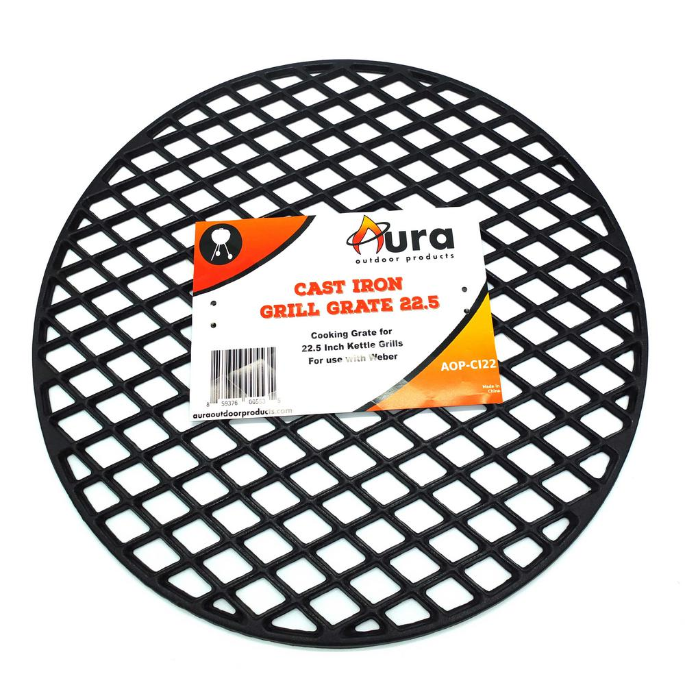 Aura Outdoor Products 22 in. Cast Iron Grill Grate - Weber Kettle