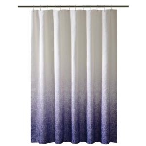 Bath Bliss 72 In Purple Shower Curtain Ombre Printed Polyester 5406 PURPLE