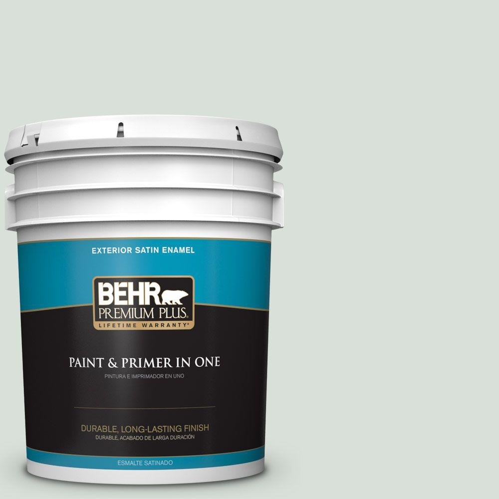5-gal. #N420-1 Juniper Breeze Satin Enamel Exterior Paint