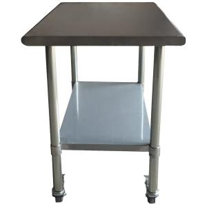 Sportsman-Stainless Steel Kitchen Utility Table with Locking Casters