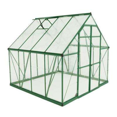 Balance 8 ft. x 8 ft. Green Polycarbonate Greenhouse