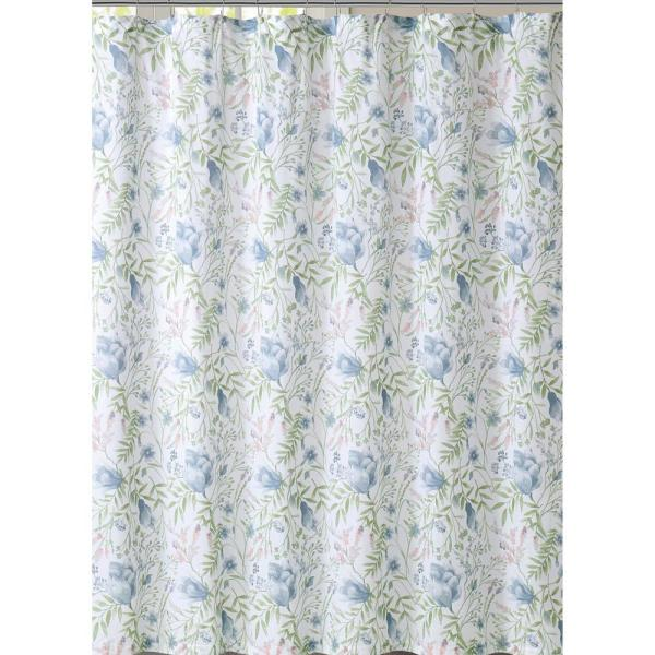 Creative Bath Shadow Leaves 72 In X 72 In 100 Cotton Botanical Themed Shower Curtain S0987nb The Home Depot