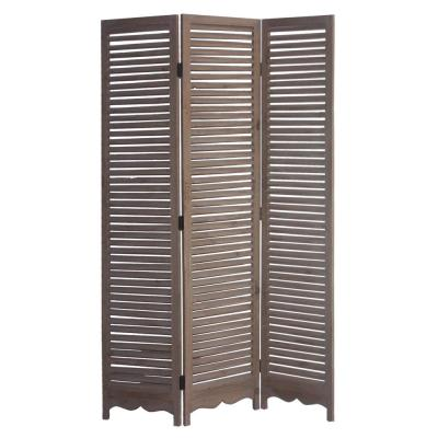 Tuscan 6 ft. Brown 3-Panel Room Divider