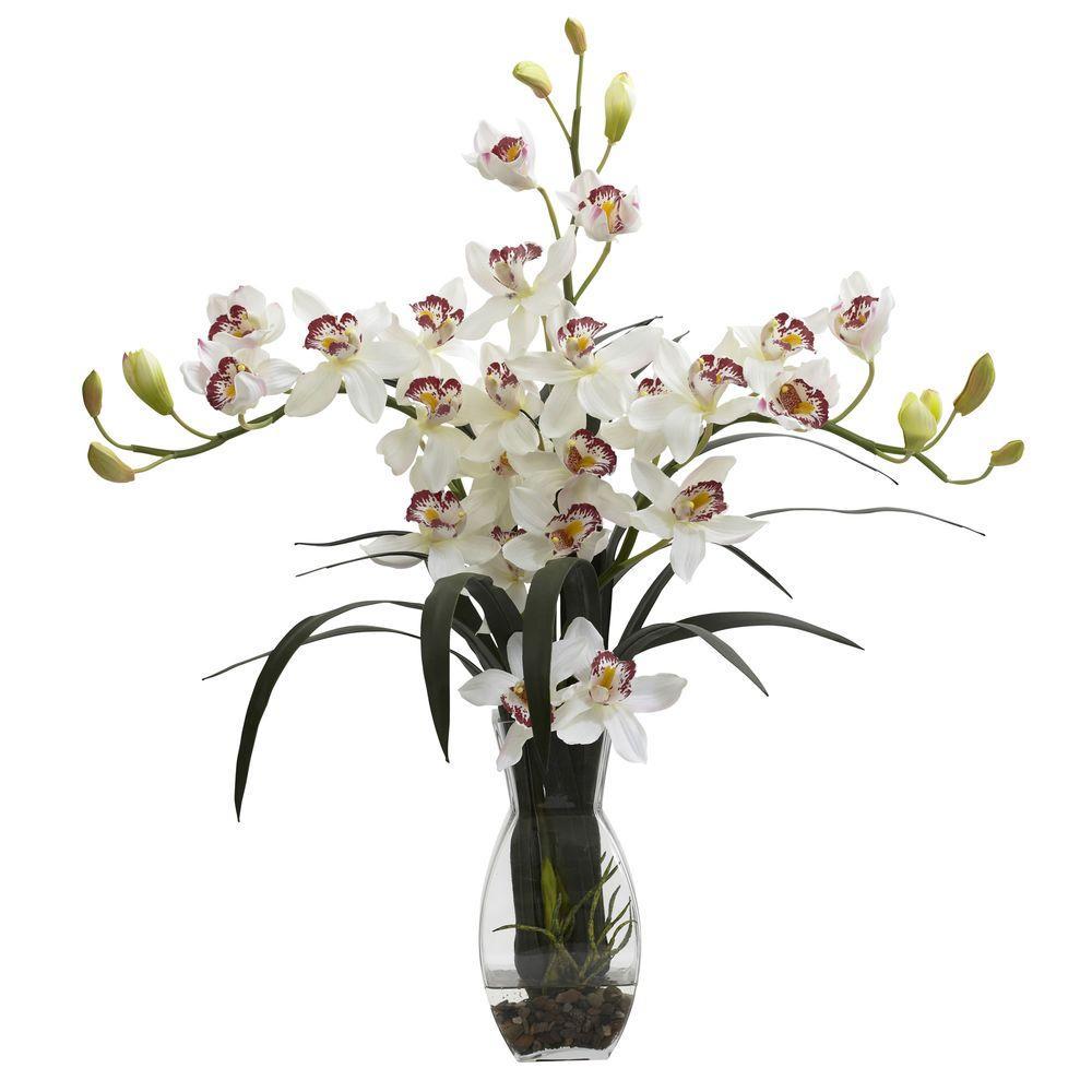 Triple Cymbidium with Vase Arrangement