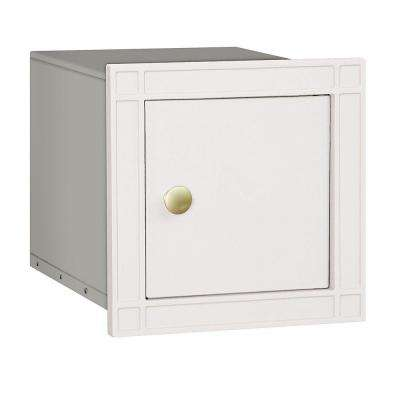 4100 Series 11.5 in. W x 11.5 in. H x 15.75 in. D White Non-Locking Plain Door Cast Aluminum Column Mailbox