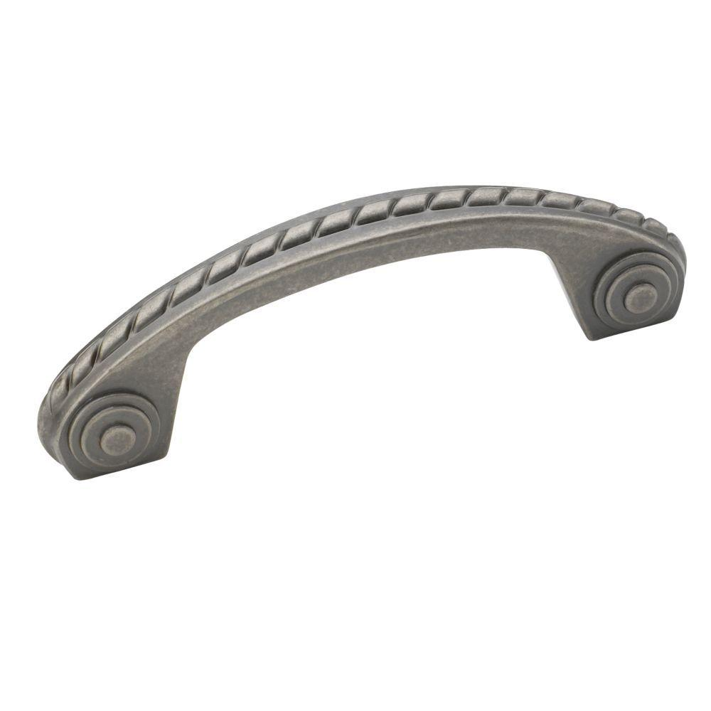 Amerock 3 in. Weathered Nickel Scroll Pull