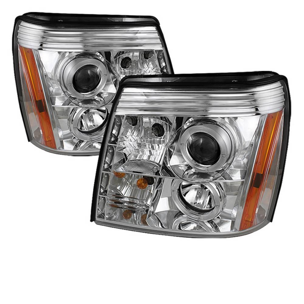 Spyder Auto Cadillac Escalade 03-06 Projector Headlights - Xenon/HID Model Only - LED Halo - DRL - Chrome