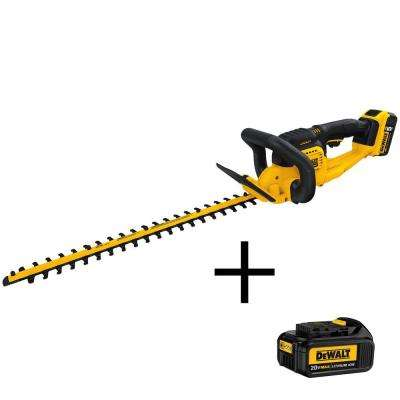 22 in. 20-Volt MAX Lithium-Ion Cordless Hedge Trimmer with (1) 5.0Ah Battery, (1) 3.0Ah Battery and Charger