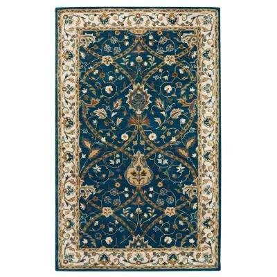 Anatole Deep Blue/Ivory 8 ft. x 11 ft. Area Rug