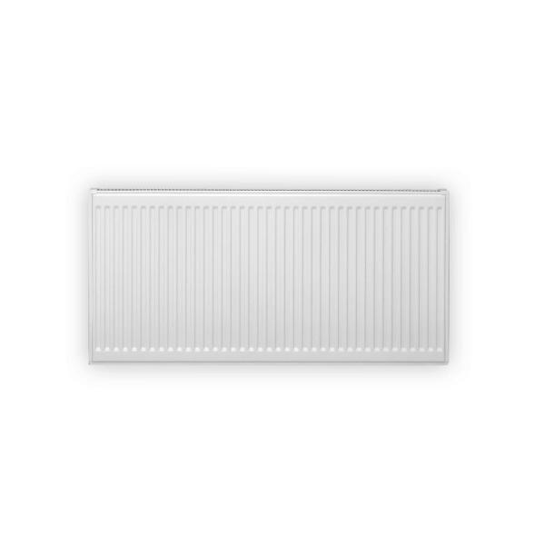24 in. H x 16 in. L Hot Water Panel Radiator Package in White