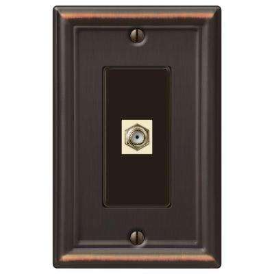 Chelsea 1 Gang Coax Wall Plate  - Oil-Rubbed Bronze