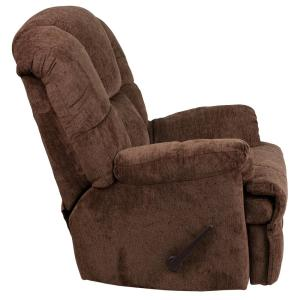 Internet #301745678. +2. Flash Furniture Contemporary Hillel Chocolate  Chenille Rocker Recliner