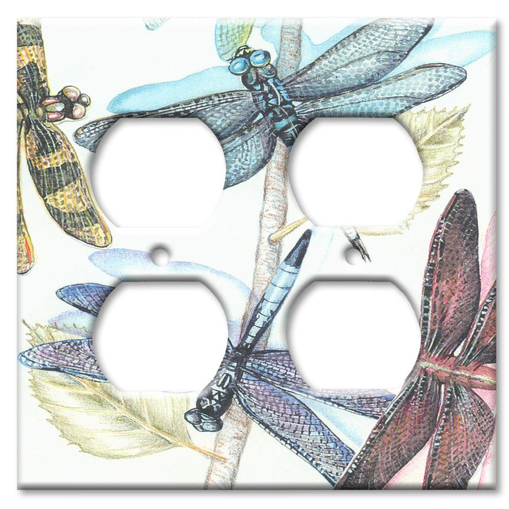 Art Plates Dragonflies - Double Outlet Cover