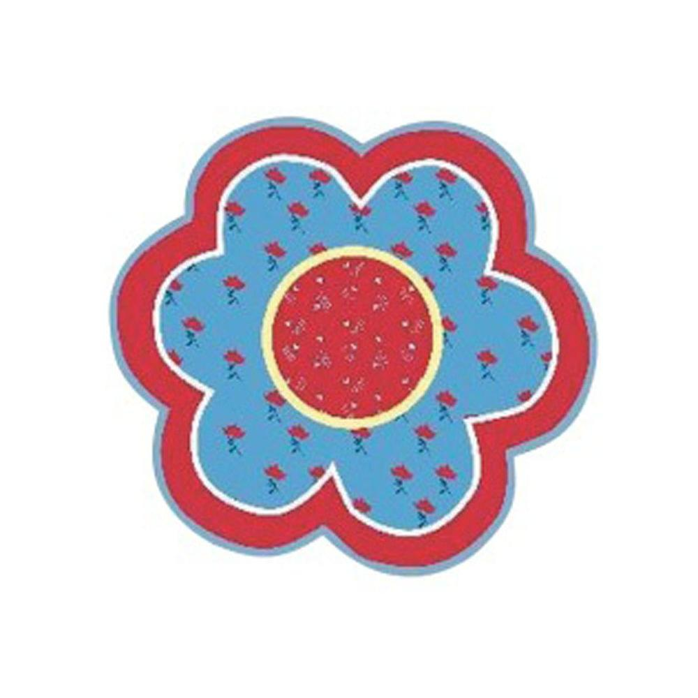 Fun Time Shape Bandana Flower Multi Colored 39 in. Round Accent