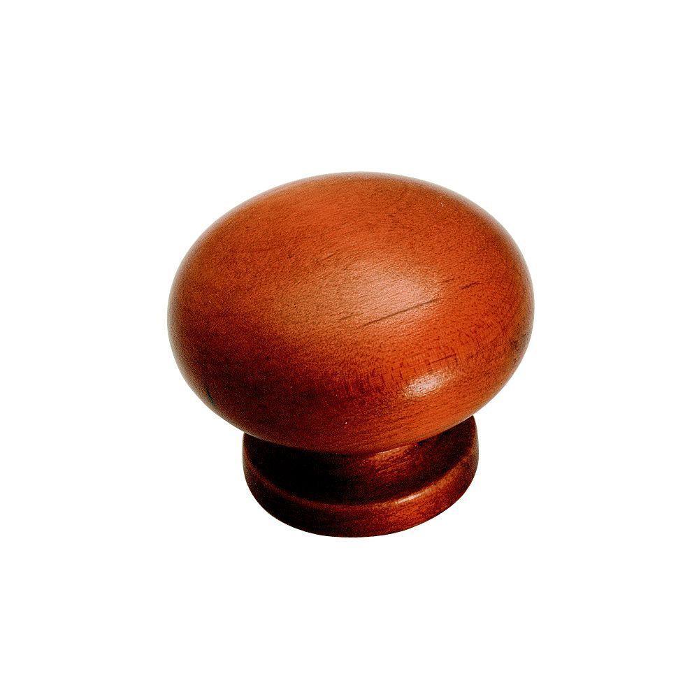 Amerock 1-1/2 in. Cherry Maple Cabinet Knob