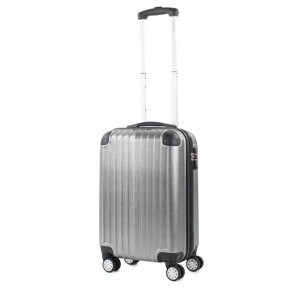 Melrose Silver 20 in. Carry-On Polycarbonate Expandable Spinner Luggage with TSA