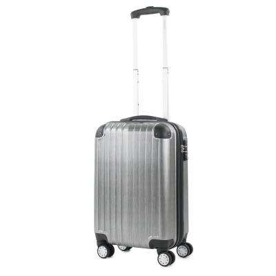Melrose Silver 20 in. Carry-On Polycarbonate Expandable Spinner Luggage with TSA Lock and Corner Guards