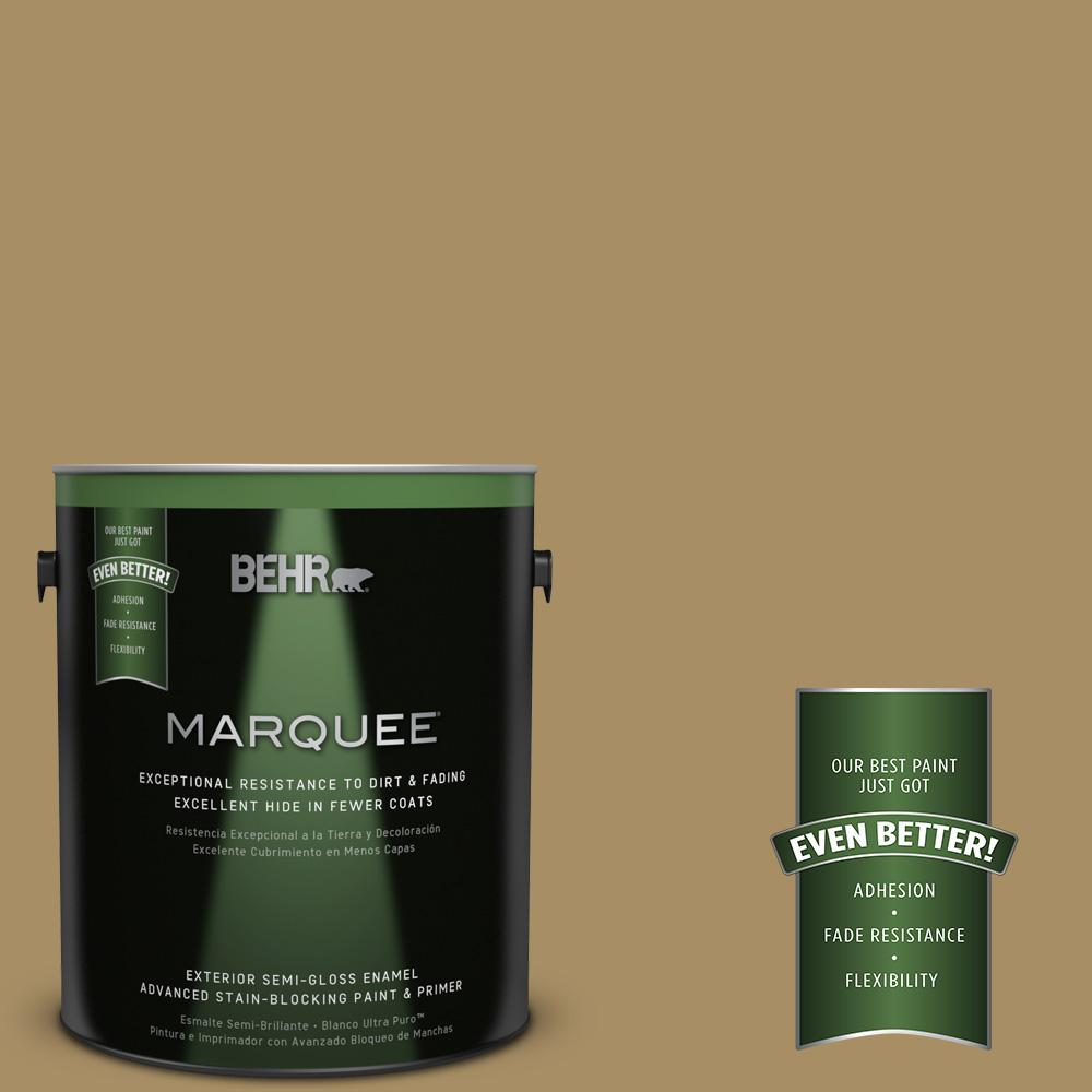 BEHR MARQUEE 1-gal. #350F-6 Fossil Butte Semi-Gloss Enamel Exterior Paint