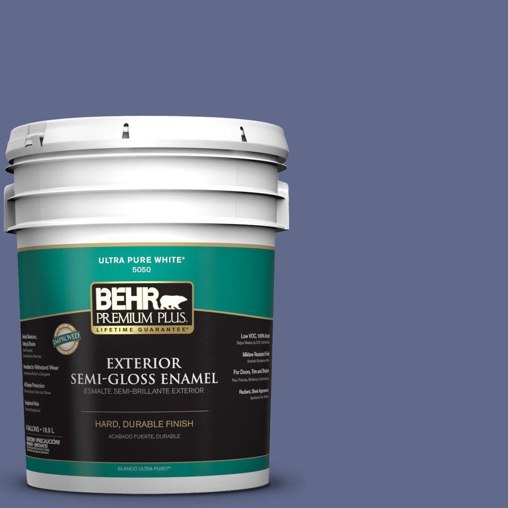 BEHR Premium Plus 5-gal. #S540-6 Dangerously Elegant Semi-Gloss Enamel Exterior Paint