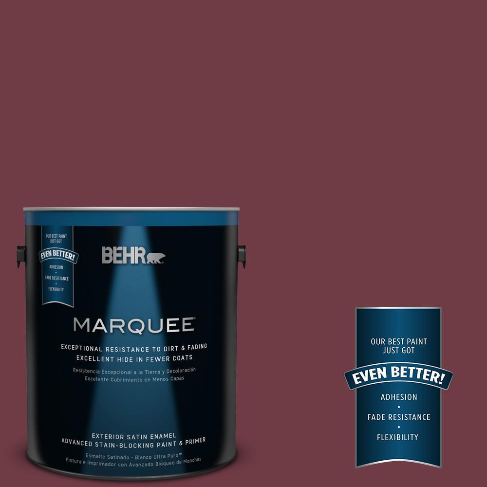 BEHR MARQUEE 1-gal. #BXC-90 Wild Cranberry Satin Enamel Exterior Paint