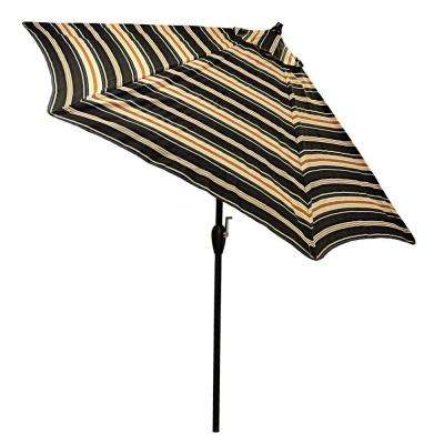 9 ft. Aluminum Patio Umbrella in Caprice Stripe with Tilt