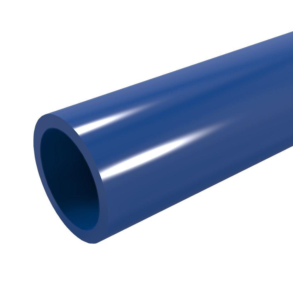 1-1/4 in. x 5 ft. Furniture Grade Sch. 40 PVC Pipe in Blue