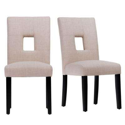 Sorrento Oatmeal Linen Dining Chair (Set of 2)