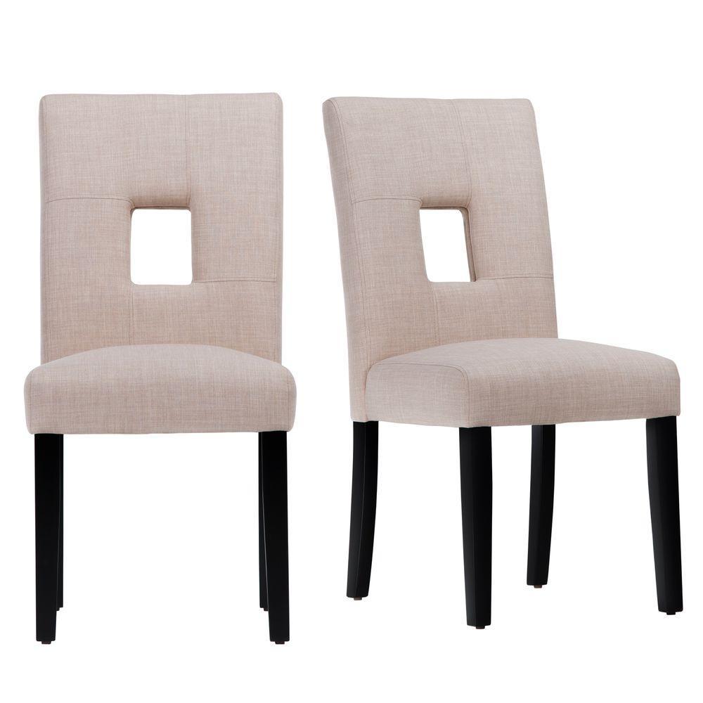 HomeSullivan Sorrento Oatmeal Linen Dining Chair (Set of 2) 403270-S1BL2PC