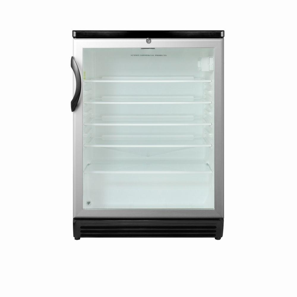 Summit Appliance 5 5 Cu Ft Glass Door Mini Refrigerator