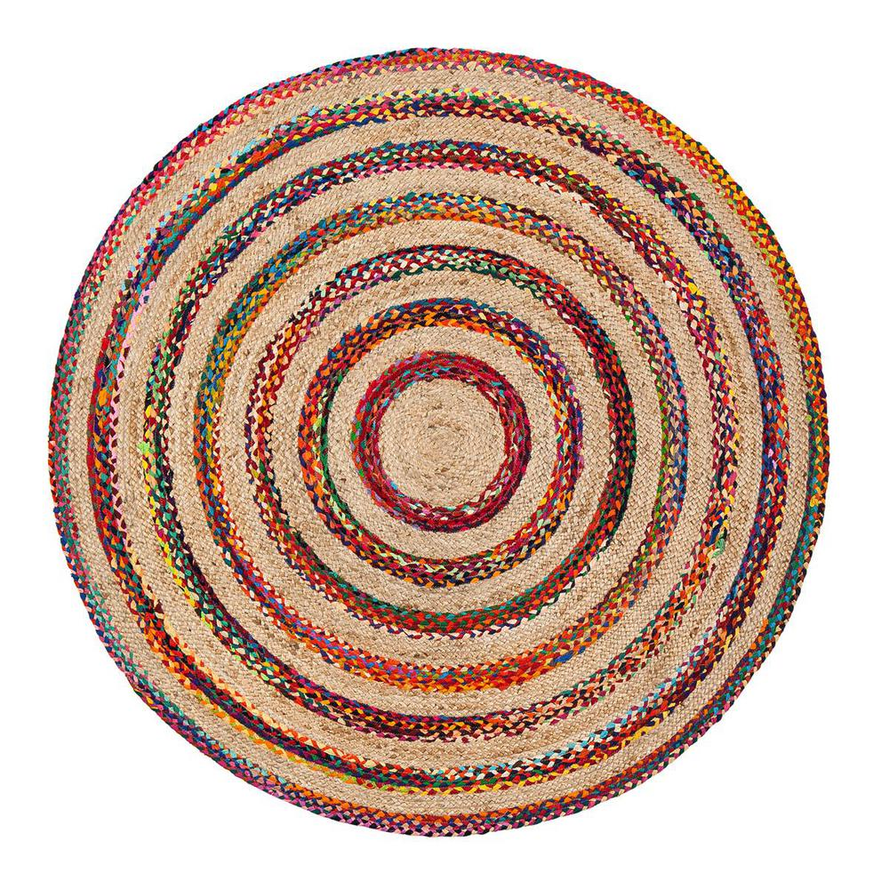 Wonderful Anji Mountain Akumal Multicolored 8 Ft. Round Area Rug
