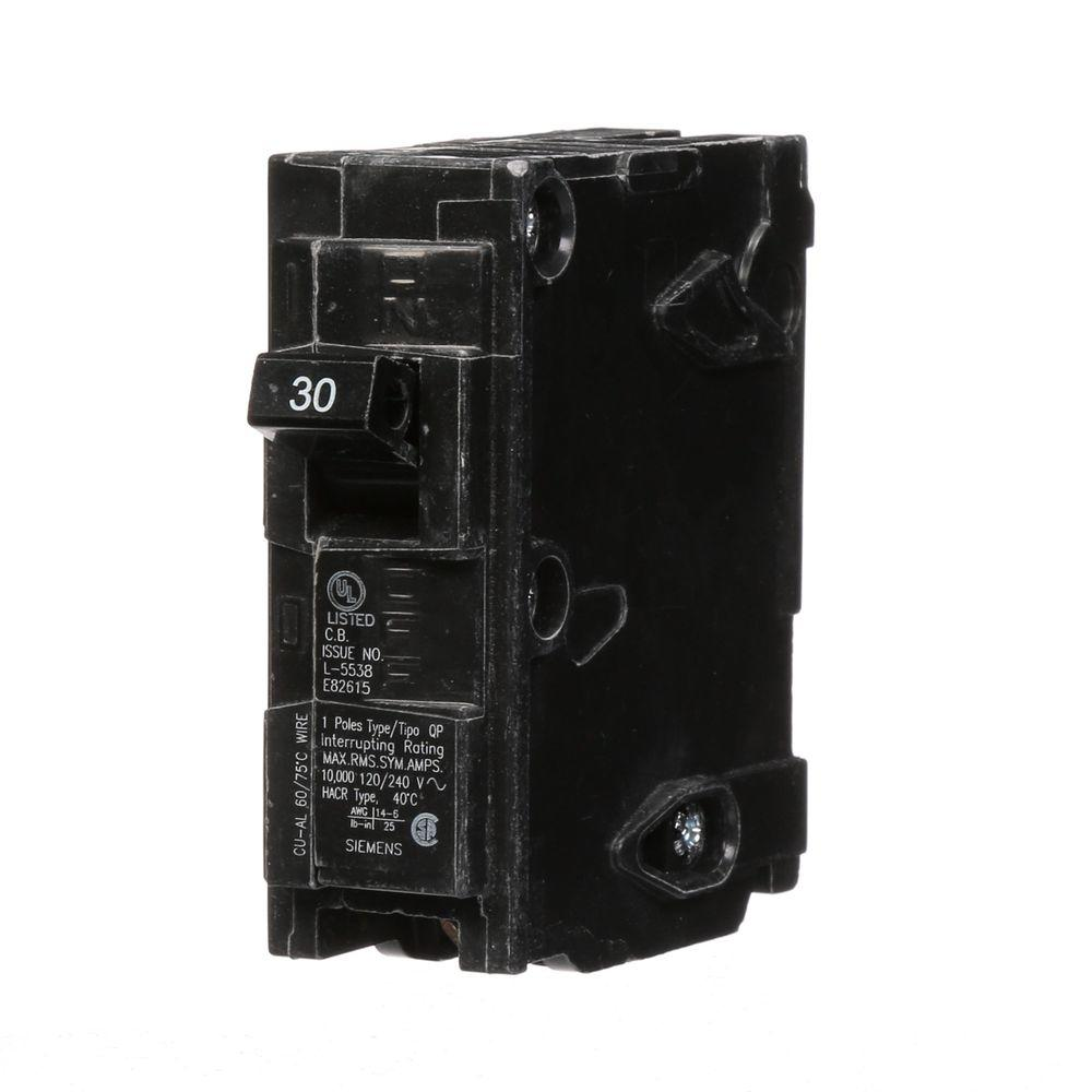 Siemens 30 Amp Single-Pole Type QP Circuit Breaker
